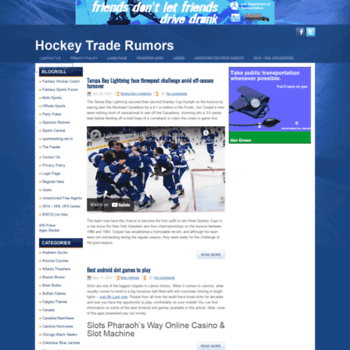 hockeytraderumors com at WI  NHL Hockey Trade Rumors