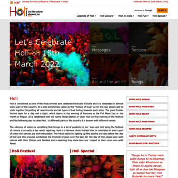 Holifestival.org thumbnail