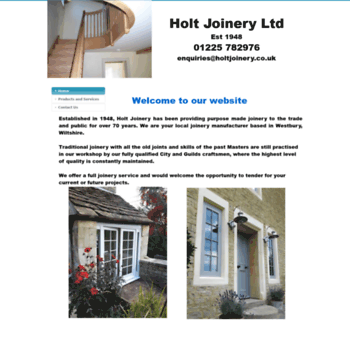 Holtjoinery.co.uk thumbnail
