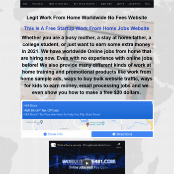 Work From Home Jobs With Benefits 2020.Home Job Industry Com At Wi Top 25 Secret Online Jobs Work