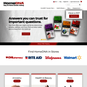 homedna com at WI  Easy At-Home DNA Testing and Genetic