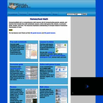 Homeschoolmath.net thumbnail