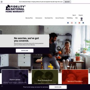 Homewarranty Com At Wi Fidelity National Home Warranty