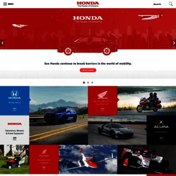 Honda Official Site >> Honda Com At Wi American Honda Motor Co Inc Official Site