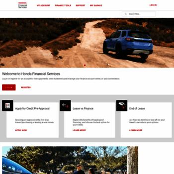 Hondafinancialservices Online Payment >> Hondafinancialservices Com At Wi Honda Financial Services