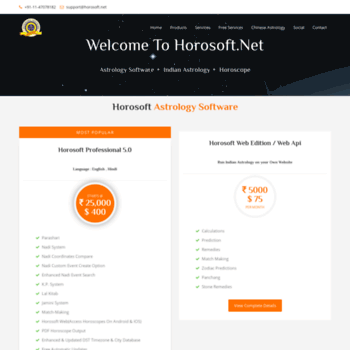 horosoft in at WI  Horosoft Astrology Software and Free