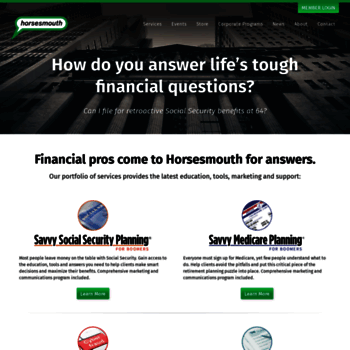 horsesmouth com at wi horsesmouth helping advisors succeed public