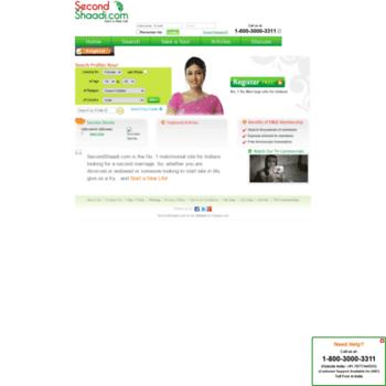 host secondshaadi com at WI  Second Shaadi | Second Marriage