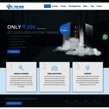 Hosttheweb.in thumbnail
