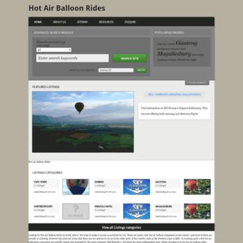 Hotairballoonrides.co.za thumbnail