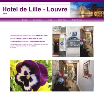 Hotel-de-lille-paris-louvre.fr thumbnail