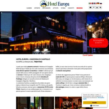 Hoteleuropacampiglio.it thumbnail