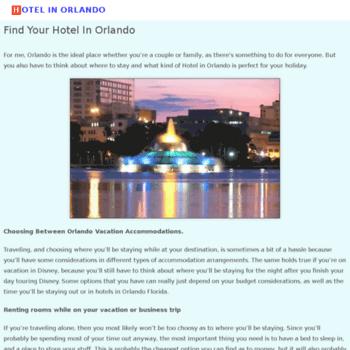 Hotelinorlando.net thumbnail
