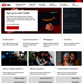 hsbc ae at WI  HSBC UAE - Personal & Online Banking