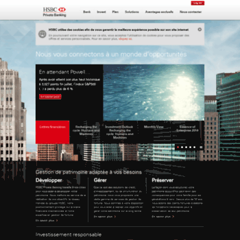 hsbcprivatebankfrance com at WI  HSBC Private Banking France