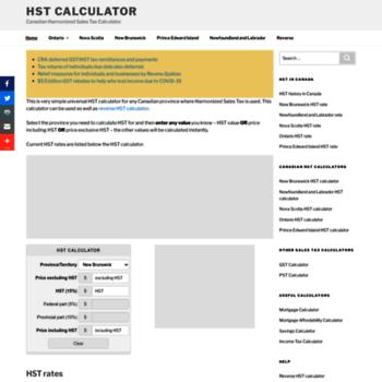 Hst Tax Calculator >> Hstcalculator Ca At Wi Hst Calculator Harmonized Sales Tax Calculator