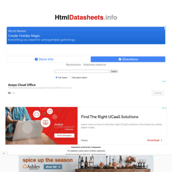 Htmldatasheets.info thumbnail