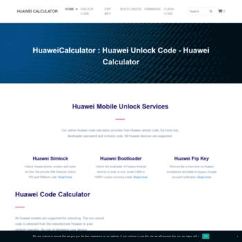 huaweicalculator com at WI  Huawei Unlock Code - Huawei