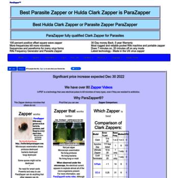 huldaclarkparazapper com at WI  Hulda Clark Zapper Parasite Zapper