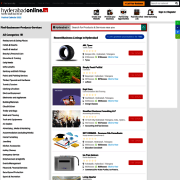 hyderabadonline in at WI  Hyderabad Directory - Hyderabad