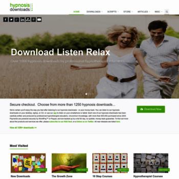 hypnosisdownloadsshop com at WI  Hypnosis Downloads Shop | Online