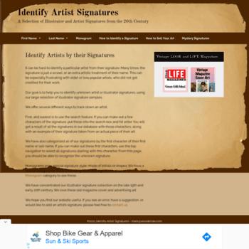 identifyartistsignatures com at WI  Home - Identify Artist Signatures