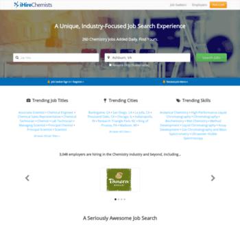 ihirechemists com at WI  Job Search, Career Advice & Hiring