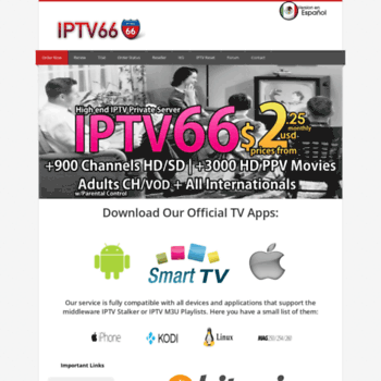 iks66 com at WI  IPTV 66 - IPTV Private Server, MAG250