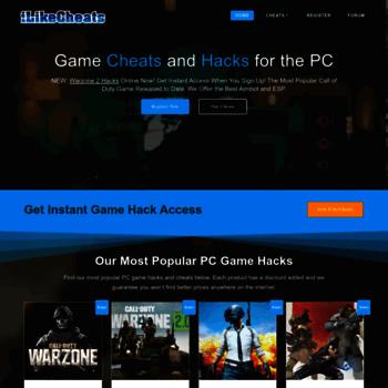 ilikecheats net at WI  Online Game Hacks, PC Bots Cheats | Hacked