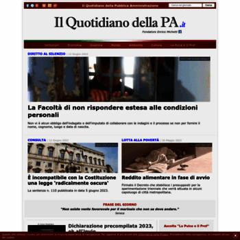 Ilquotidianodellapait At Wi Qpa Il Quotidiano Della Pa News