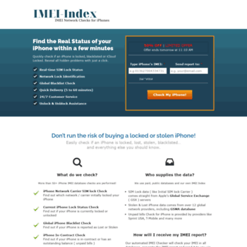 imei-index com at WI  iPhone IMEI Checker - Network, SIM