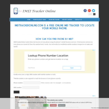imeitrackeronline com at WI  IMEI Tracker Online - Find