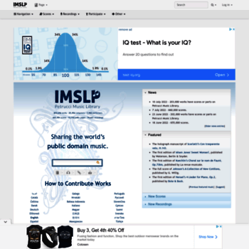 imslp org at WI  IMSLP/Petrucci Music Library: Free Public Domain
