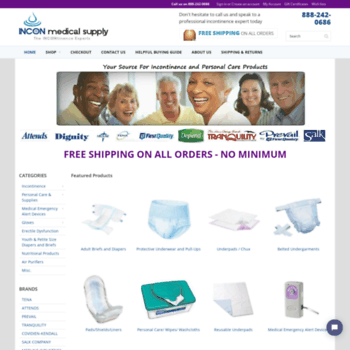 inconmedicalsupply com at WI  Adult Diapers and Incontinence