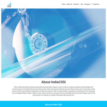 indiacssi com at WI  CSSI | Computer Storage Services | Data