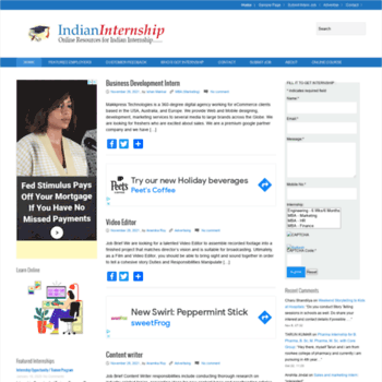 Indianinternship.com thumbnail