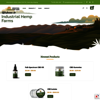 industrialhempfarms com at WI  Wholesale CBD Hemp Biomass