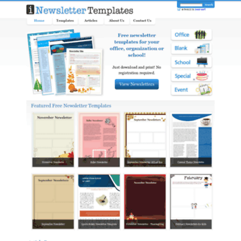 picture relating to Free Printable Newsletter Templates identified as at WI. Cost-free Printable Newsletters