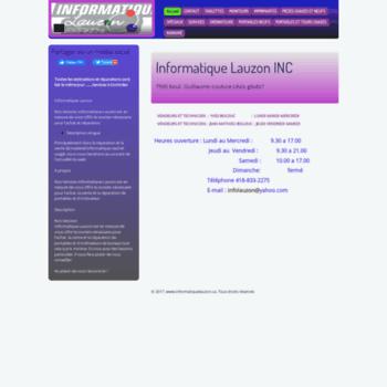Informatiquelauzon.ca thumbnail