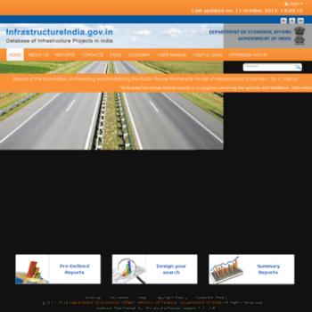 Infrastructureindia.gov.in thumbnail