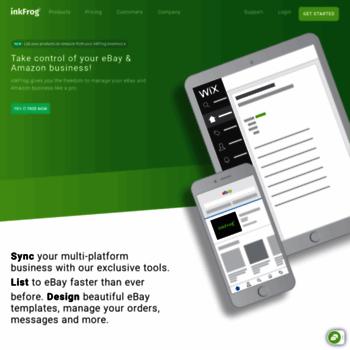 inkfrog com at WI  inkFrog: eBay and Amazon Listing Software
