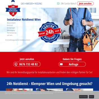 Installateur Not24at At Wi Installateur Notdienst Wien 24h