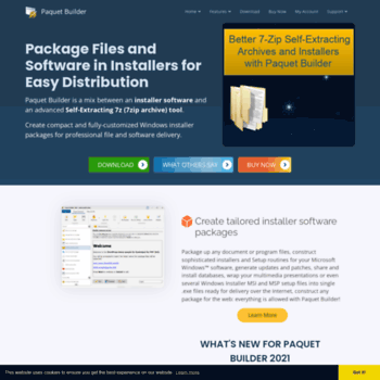 installpackbuilder com at WI  Paquet Builder - Make Installers and