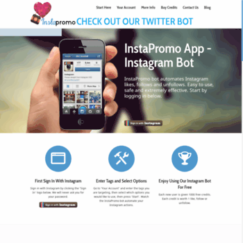 instapromobiz com at WI  InstaPromo - Instagram bot to like, follow