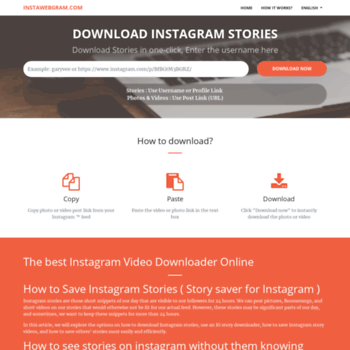 instawebgram com at WI  Download Instagram Stories Anonymously