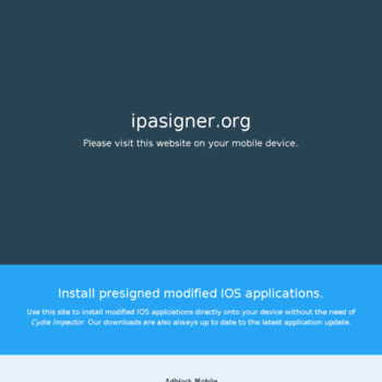 ipasigner org at WI  IPAsigner - Install presigned modified IOS