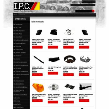 ipconlinestore com at WI  IPC - Import Parts Connection - VW