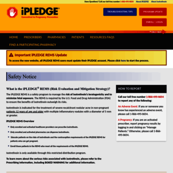 Ipledgeprogram Com At Wi Ipledge Rems Public Home Page