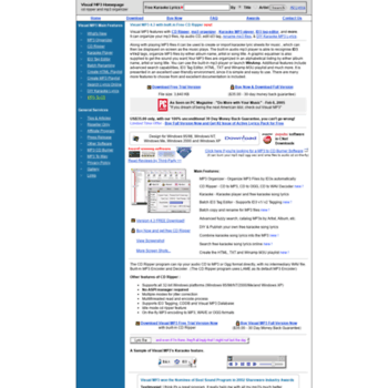 iprogramdev com at WI  Visual MP3 Organizer CD Ripper Burner