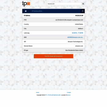 ipx ac at WI  IP X - IP info and leak test suite